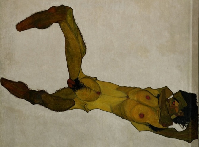 Seated_male_nude_(Self-Portrait)_Egon_Schiele_1910